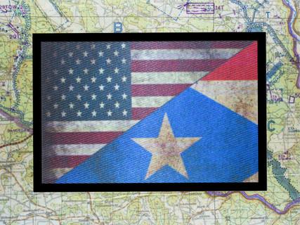 USA Flag Puerto Rico Flag Morale Patch