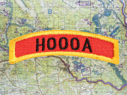 HOOOA RED GOLD TAB PATCH