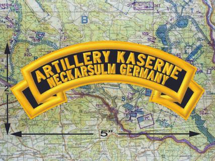 Artillery Kaserne Neckarsulm Black Patch 1