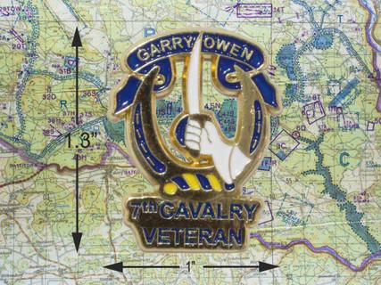 7th Cavalry Veteran Pin