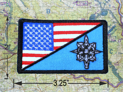 Military Intelligence with US Flag in Full Color