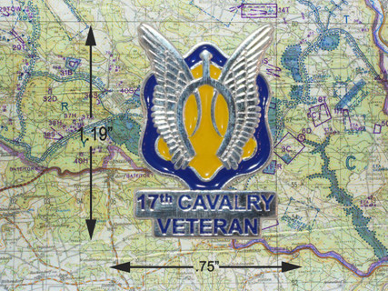 17TH CAVALRY TIE PIN