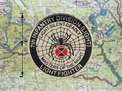 7TH Infantry Division Light Fighter Hat Pin K1