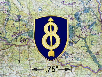 8TH Infantry Division Hat Pin