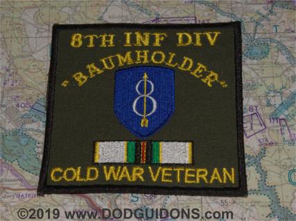 8th ID COLD WAR VETERAN PATCH BAUMHOLDER *B16*