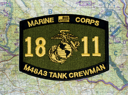 1811 M48A3 PATCH OLIVE DRAB