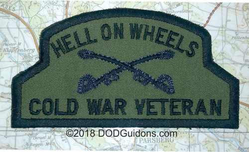 Hell on Wheels Cold War Vet Patch