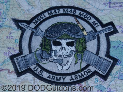 Skull Tank Commander Patch
