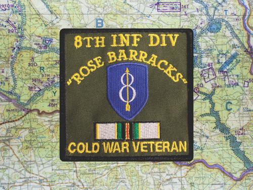8th ID COLD WAR VETERAN PATCH ROSE BARRACKS