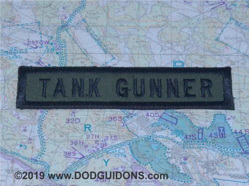 TANK GUNNER QUALIFICATION TAB