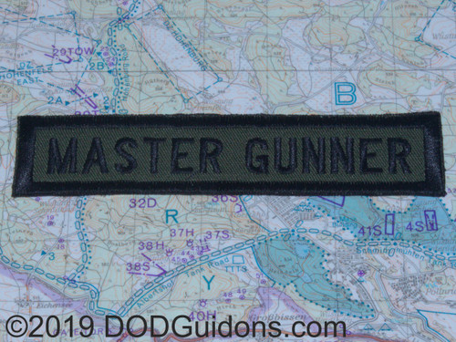 MASTER GUNNER QUALIFICATION TAB
