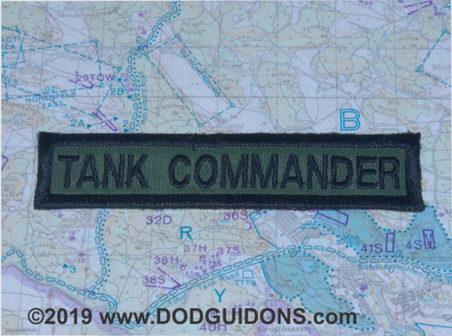 TANK COMMANDER GUNNER QUALIFICATION TAB