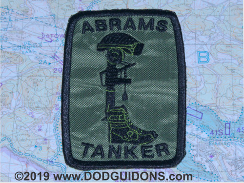ABRAMS TANKER MEMORIAL PATCH OD