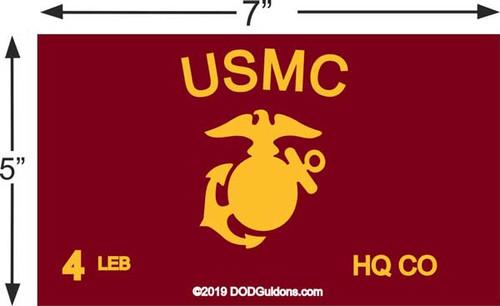 USMC Guidon for Frame 5x7