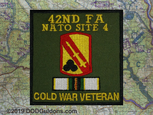 42ND FA NATO SITE 4 COLD WAR VETERAN PATCH