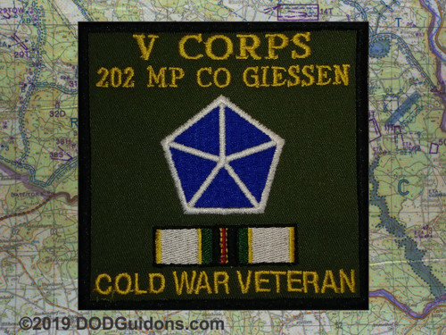 V CORPS 202 MP CO GIESSEN COLD WAR VETERAN PATCH
