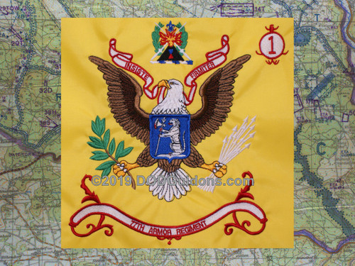 77TH ARMOR REGIMENTAL FLAG