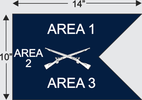 Copy of Army Guidon half Size for Frame (10x14)