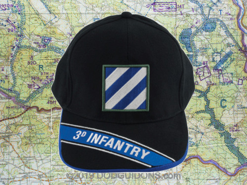 3D Infantry Division Black Ball Cap