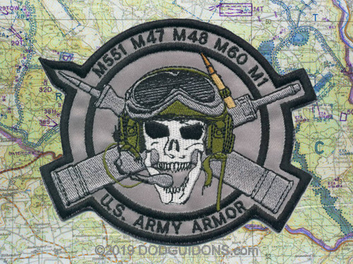 Skull Tank Commander Patch