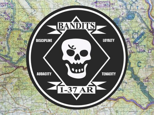 37th Armor Bandits Metal Sign Classic Look