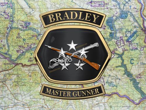 Bradley Master Gunner Wall Art Metal Sign