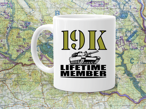 19K life time member coffee cup