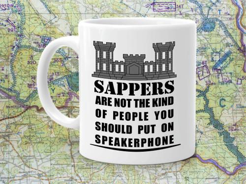 Engineer speaker phone coffee cup