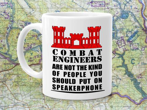 Combat Engineer Not on Speakerphone Coffee Cup