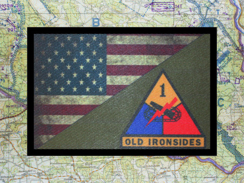 1st Armored Division USA Flag Morale Patch