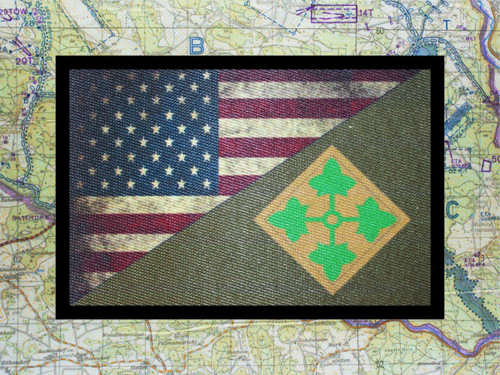 4th Infantry Division USA Flag Moral Patch