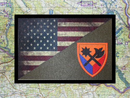 194th Armored Brigade USA Flag Morale Patch