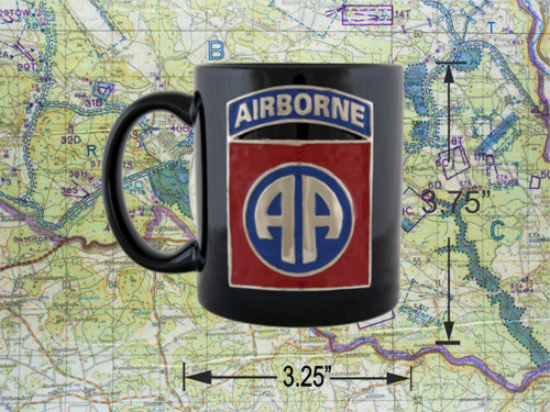 82nd Airborne Black Coffee Cup