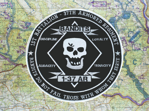 1-37 Armor Bandits Jacket Back Patch