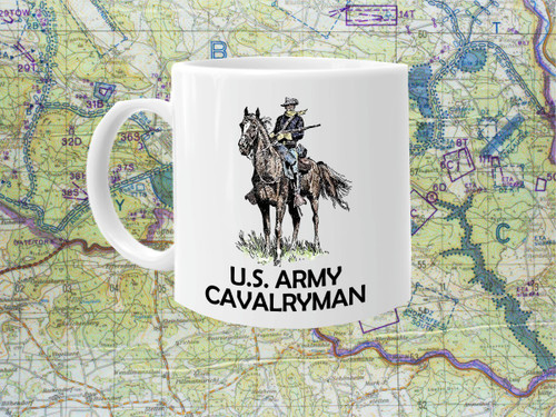 Cavalry Man Cold War Vet Coffee Cup