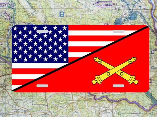 Artillery/US Flag License Plate Full Color