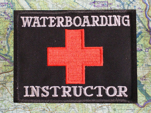 Waterboarding Water Instructor Moral Patch