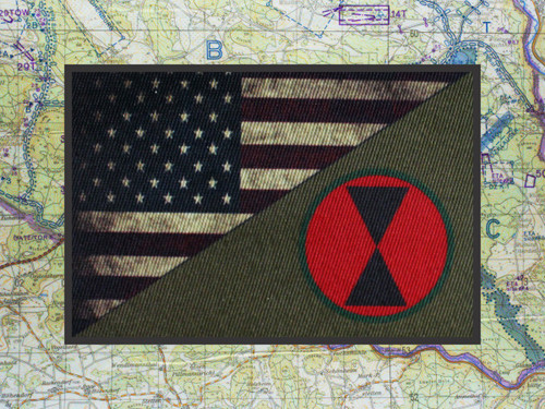 us flag 7th infantry moral patch 2