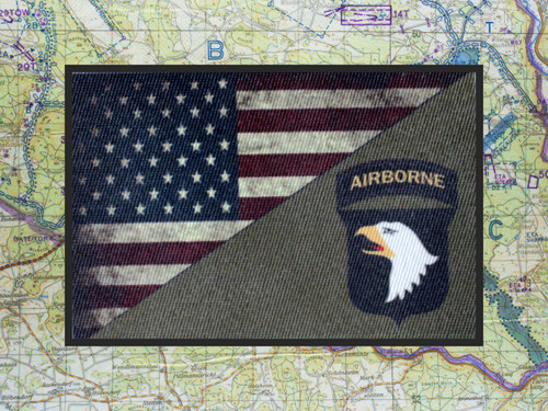 101st Airborne Division USA Flag Moral Patch 3