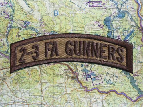 2-3 FA GUNNERS TAB OD GREEN