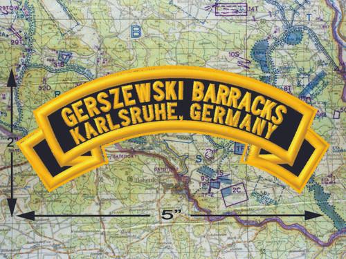 Gerszewski Barracks Karlsruhe Black Patch