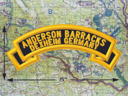 Anderson Barracks Dexheim Black Patch