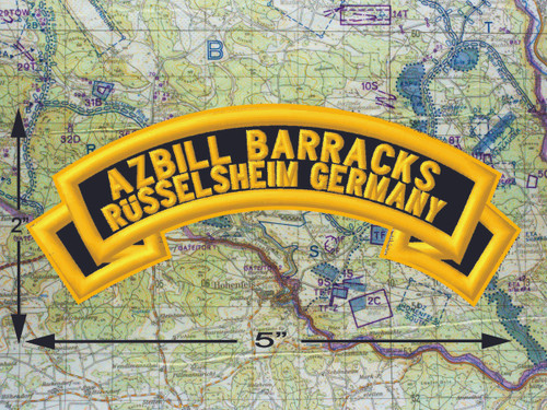 Azbill Barracks Russelsheim Germany Black Patch