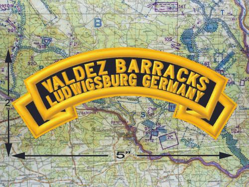Valdez Barracks Ludwigsburg Black Patch