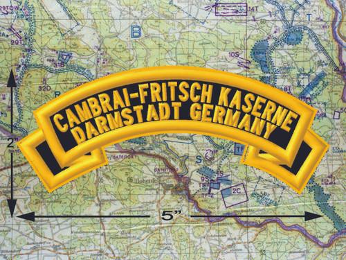 Cambrai Fritsch Kaserne Darmstadt Black Patch