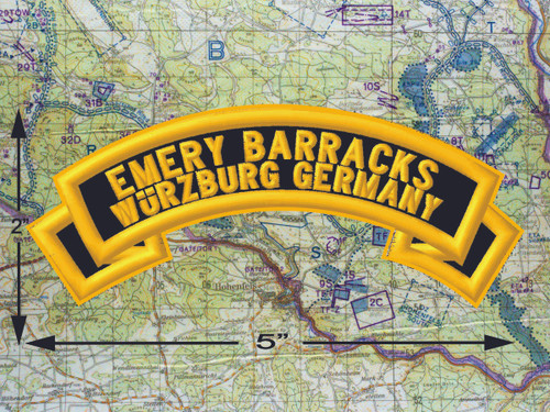 Emery Barracks Wurzburg Black Patch