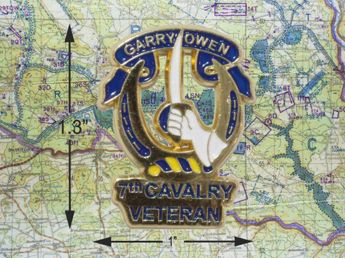 7th Cavalry Veteran Pin