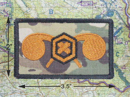 CHEMICAL NBC TACTICAL BROWN MORALE PATCH