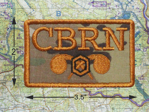 CBRN CHEMICAL TACTICAL BROWN MORALE PATCH