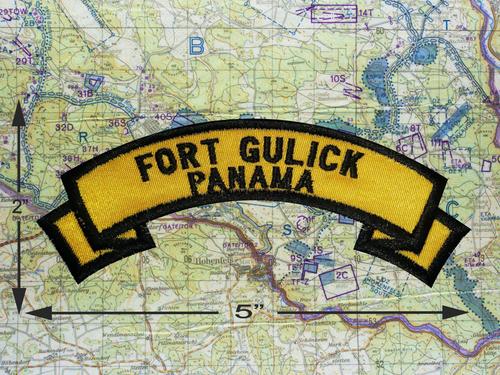 Fort Gulick Panama Gold Patch *B13*